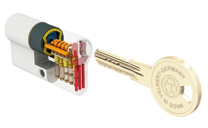 Nuovo cilindro europeo ces wd 0641731422 romana serrature for Cilindro europeo migliore