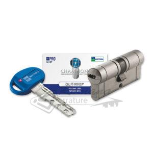 Cilindro Europeo Mottura Champions PRO con chiave di servizio