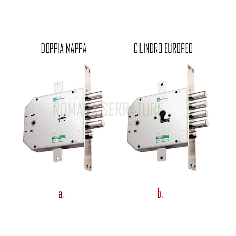 Serratura per porte blindate mottura 0641731422 romana for Serratura mottura doppia mappa