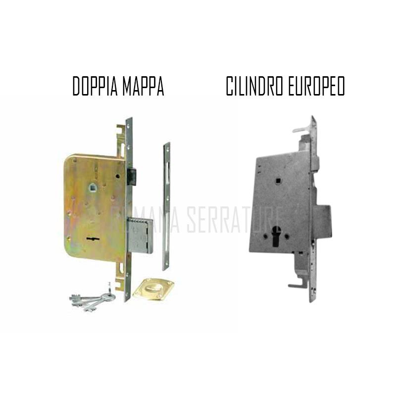 Serratura a doppia mappa cr dom 0641731422 romana serrature - Cambiare serratura porta ...