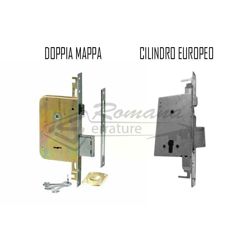 Serratura a doppia mappa cr dom 0641731422 romana serrature for Cilindro europeo prezzi